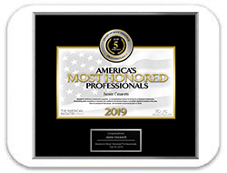 Awarded America's Most Honored Professionals 2019 - Top 1%